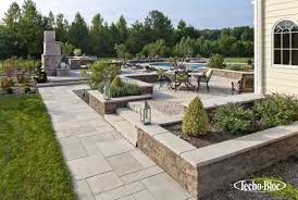 Techo-Bloc Fireplace, Outdoor Kitchen, Patio, Pool, Stoop & Stair ...