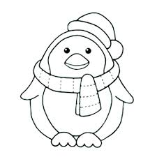 Appealing Easy Flower Coloring Pages Baby Penguin Colouring Pages