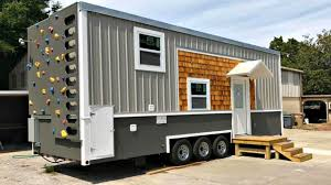Small Picture Modern Spacious Tiny House with Unique Exterior Rock Climbing Wall