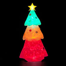 12ft Inflatable Christmas Tree with Multi-coloured Disco Globe