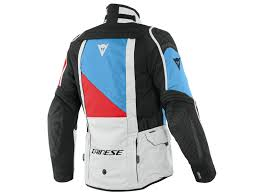 Gore Tex Jacke Dainese D-Explorer 2 GTX grau blau rot