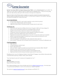 Summer Camp Counselor Resume Resume For Study