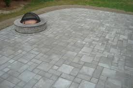 square paver patio with fire pit. EP Henry Village Square Paver Patio With Fire Pit / Pewter Blend A