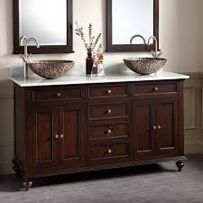 60 keller mahogany double vessel sink vanity dark espresso bathroom recessed lighting ideas espresso