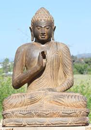 buddha garden statue. Stone Teaching Buddha Garden Statue 36\