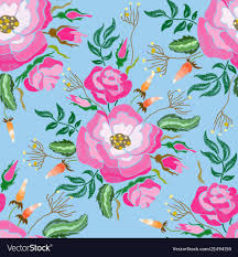 Floral Embroidery Designs Vector Fashion Floral Embroidery