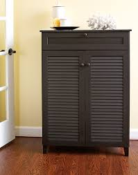 Amazon.com: Baxton Studio Harding Shoe-Storage Cabinet, Espresso: Kitchen &  Dining