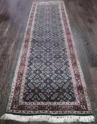 rugsville vintage persian mythological green black runner rug 90x365