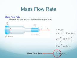 4 mass flow rate mass of fluid per second that flows through a mass flow rate