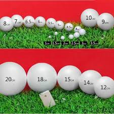 Golf Ball Decorations 100pcslot 100mm 100mm white modeling process polystyrene foam solid 58