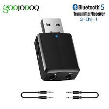 USB <b>Bluetooth 5.0</b> Transmitter Receiver 3 in 1 EDR <b>Adapter</b> Dongle ...