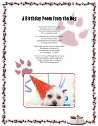 a birthday poem from the dog
