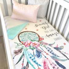 Dream Catcher Baby Bedding Baby Cot Crib Quilt Blanket Beautiful Girl Dreamcatcher Baby 2