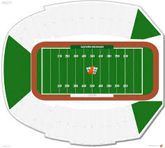 Michigan Stadium Seating Chart Row Numbers Rynearson Stadium Eastern Michigan Seating Guide