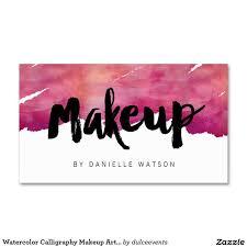 pany names makeup artist business names watercolor calligraphy makeup artist business card