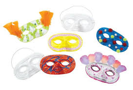 Plastic Masks To Decorate Colorations Decorate Your Own Masks Set of 6