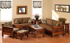 Living Room Wood Furniture Small Living Room Furniture At Best Decorative Simple Wooden Sofa