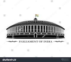 Indian Parliament Design Illustration Indian Parliament Building Royalty Free Stock