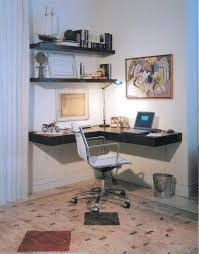 Bedroom furniture home office minimalist desk floating shelves