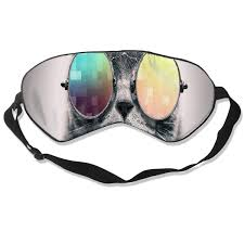 Cool Mask Designs Amazon Com Eye Mask Cat Wearing Glasses Is Cool Designer