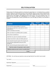 Weekly Evaluation Forms Self Evaluation Template Word Pdf By Business In A Box
