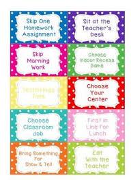 Editable Classroom Coupons Classroom Coupons Classroom