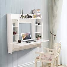 White desk for home office Cute Image Unavailable Amazoncom Amazoncom Mecor Wall Mounted Floating Deskhome Office Computer