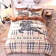 bedding sets king size classic logo print set stain bed fashion duvet cover home textile supplies bedding sets