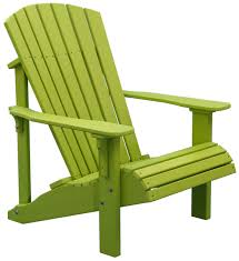 Furniture Deluxe Adirondack Chair By Polywood Furniture In Green