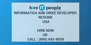 Obiee Developer Informatica And Obiee Developer Resume Usa Hire It People