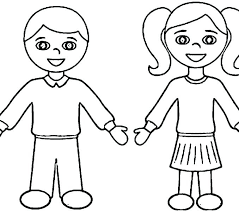 Coloring Page Of A Boy Girl Superhero Pages And Free Printable