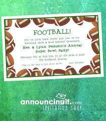 Superbowl Invitation Super Bowl Party Invitations Ideal Invite