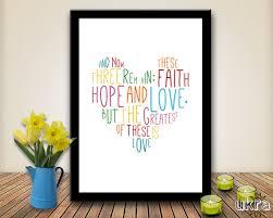 faith hope love bible verse wall art printable scripture print christian wall decor  on bible verse wall art pinterest with faith hope love bible verse wall art printable scripture print