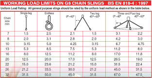 Chain Sling Chart Ewl Length 1 Meter Clevis Sling Hook With Self Locking Hook