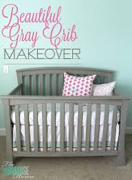 gray nursery furniture. beautiful gray crib makeover with annie sloan chalk paint nursery furniture