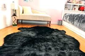 black faux sheepskin rug fur 8 x 10 furniture