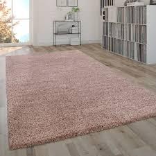 Light Pink Fluffy Rug Deep Pile Shaggy Rug Plain Pink Fluffy