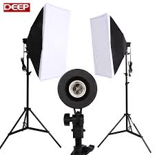 2018 whole photography softbox lighting kit photo equipment soft studio light softbox continuous lighting kit 2meter light stand led 175w from
