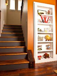 relooking escalier bois avec contremarches peintes marron