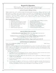 School Principal Resume Samples Useful Materials For High School