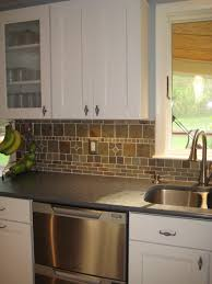 Rustic Kitchen Backsplash Kitchen Backsplash Ideas With White Cabinets And Dark