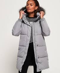 Light Grey Mens Parka Womens Cocoon Parka Jacket In Grey Superdry