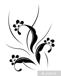 Fototapeta Vinylová Květinový Vzor Tetování