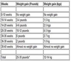 Pregnancy Weight Gain Month By Month Chart Pin On Littles