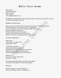 Testing Sample Resumes Mobile Qa Tester Resume Resume For Study 60