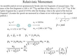 hw difficult question physics homework and study help relativistic momentum physics problem
