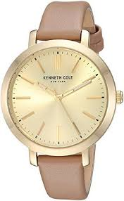 women s kenneth cole genuine beige leather band 36mm watch kc15173007 loading zoom