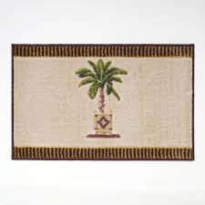 avanti banana palm 20 in x 30 in linen nylon bath rug