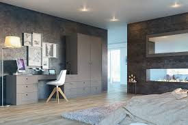 contemporary fitted bedroom furniture. Zurfiz Ultra Matt Metallic Basalt Fitted Bedroom · Contemporary Furniture