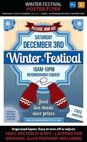 Winter Festival Poster Or Flyer Tournament Template Softball Flyers ...